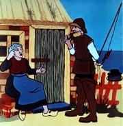 kurzer märchenfilm - der fischer und seine frau