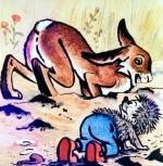kurzer märchenfilm - der wettlauf zwischen hase und igel